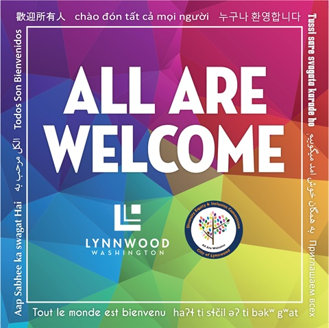 All Are Welcome Decal