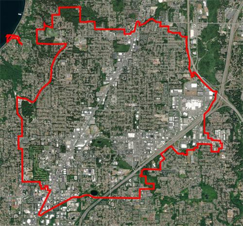 Do I Live In Lynnwood Boundary Map - click map to open the interactive map