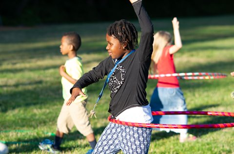 Kids Playing Hula Hoop at Meet Me at the Park Event