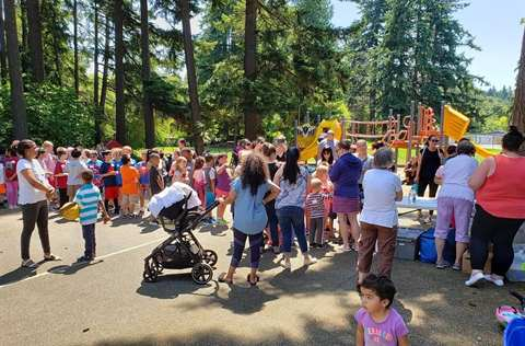 Nourishing Network's Summer Meals Program at South Lynnwood Park 2019
