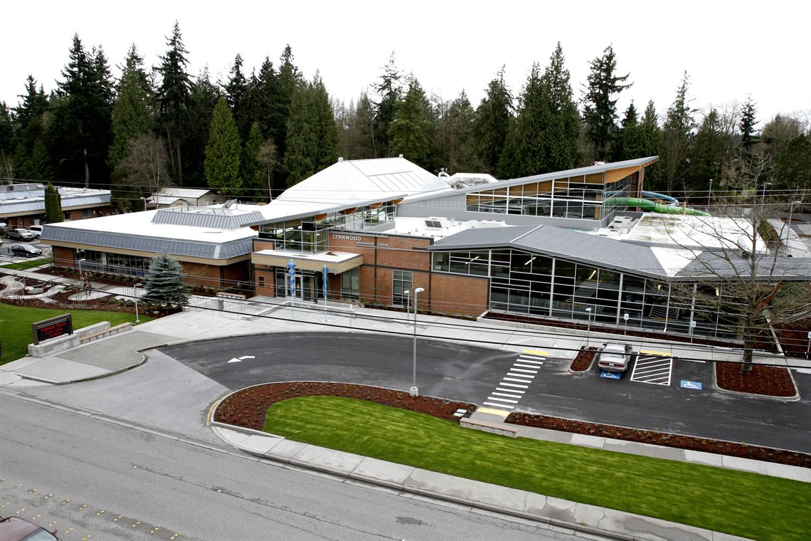 Front Aerial view of Recreation Center